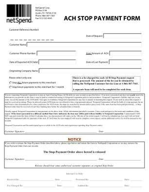 Documents Netspend Form
