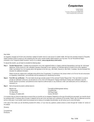 Computershare Transfer Request Form