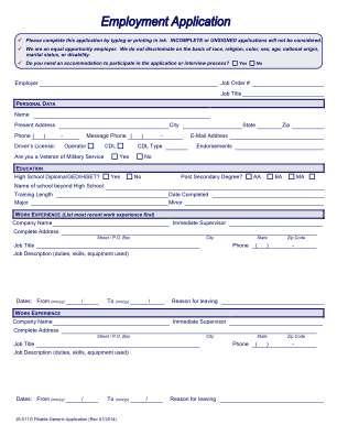 Js 511g Generic Application Form