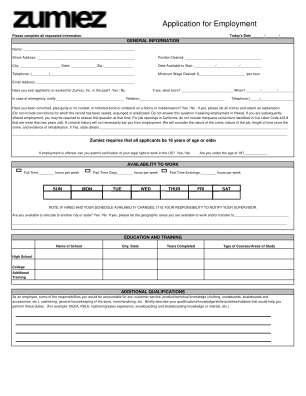 Zumies Online Form