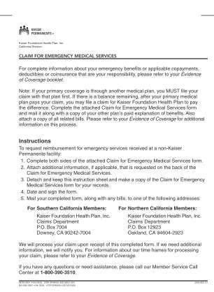 Kaiser Er Discharge Papers Form