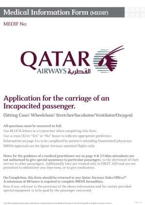 Qatar Airways Pregnancy Medical Form