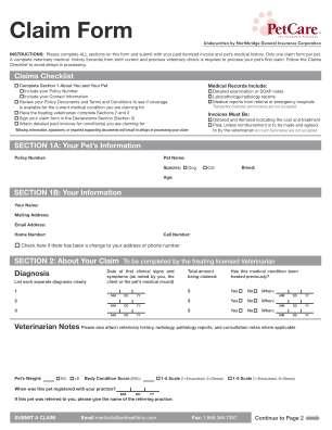 Zoetis Petcare Rewards Submission Form
