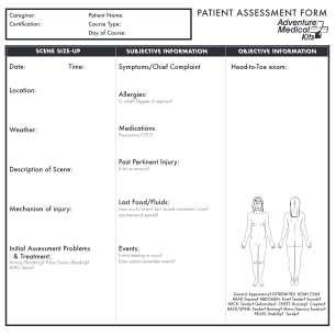 Assessment Form Of Patient