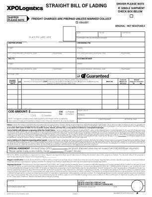 Xpo Bill Of Lading Form