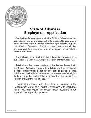 Arkansas Employment Form
