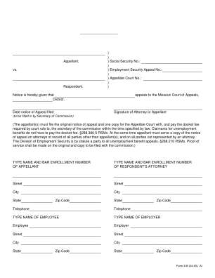 Form 8 B Notice Of Appeal