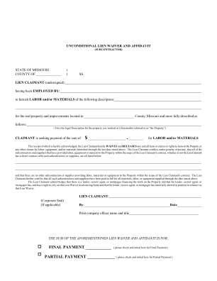 Lien Waiver Hillsboro Title Company