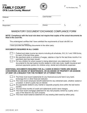St Louis County 685 Compliance Form