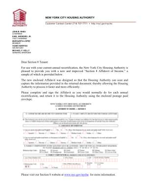 Nycha Annual Recertification Form
