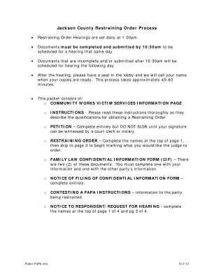 Jackson County Courthouse Restraining Order Form