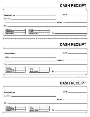 Receipt Template Form