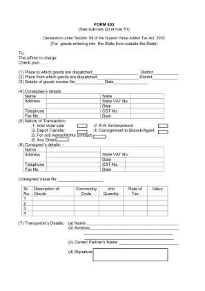 Form 403 Sample