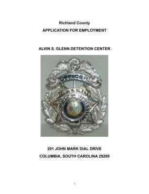 Alvin Detention Center Columbia Sc Form