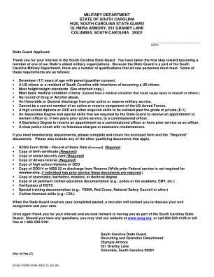 Form 2066 Sc Sg