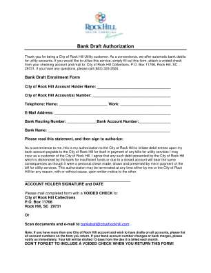 2014 1003 Bank Draft Authorizationdoc