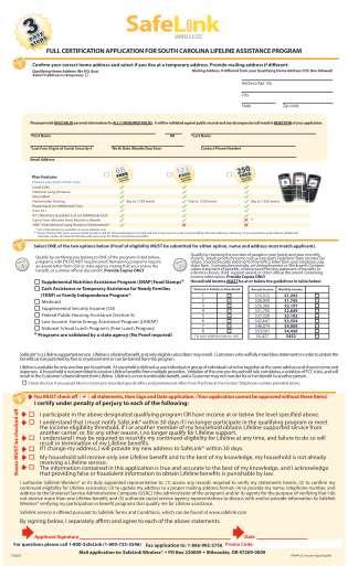 Safelink Application Pdf Form