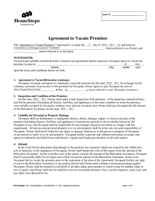 Voluntary Move Out Agreement Form
