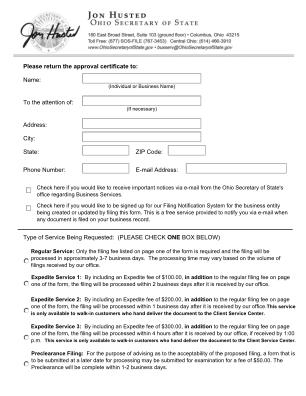Ohio Form 521