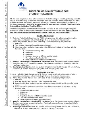 Blank Tb Test Form Printable