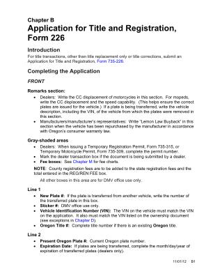 Oregon Dmv Form 226