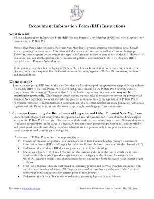 Pi Beta Phi Recommendation Form Auburn