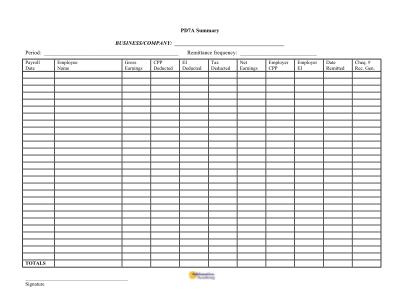 Blank Spreadsheet Form