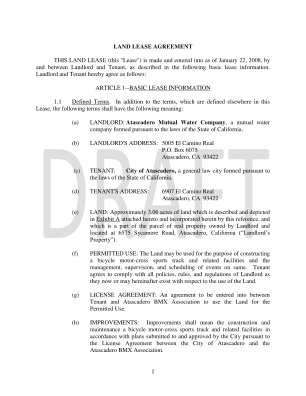 Land Lease Agreement Forms To Print
