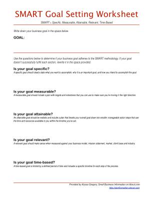 Smart Goals Template Fillable Pdf Form
