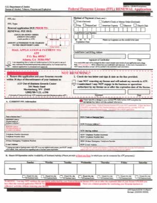 Ffl Renewal Form