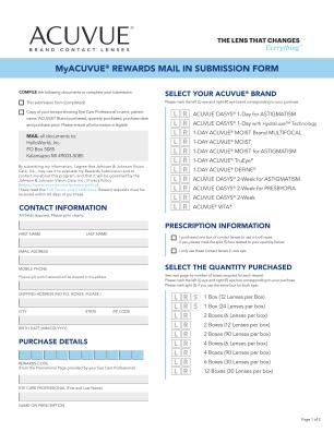 Myacuvuerewards Form