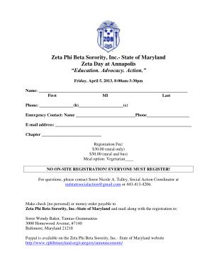 Zeta Phi Beta Sorority Inc State Of Maryland Zeta Day Zphibmaryland Form
