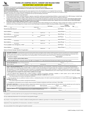 Young Life Health Form Online