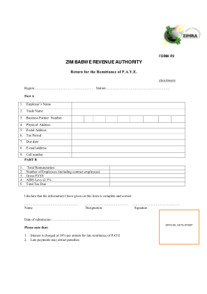 Zimra Forms