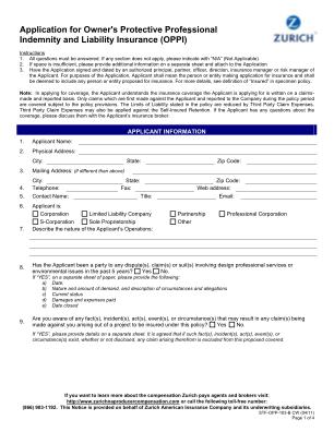 Zurich Builders Risk Application