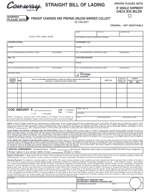 Xpo Bill Of Lading Format