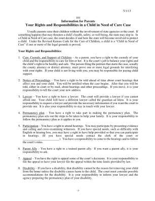 Your Rights And Responsibilities In A Child In Need Of Care Case Kansasjudicialcouncil