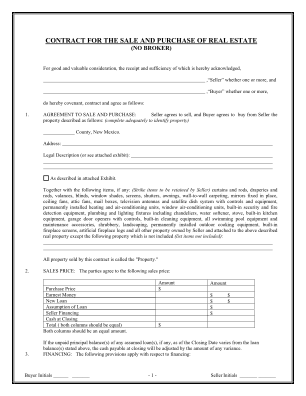 Realtors Association Of New Mexico Purchase Agreement Form