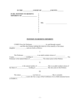 Mississippi Removal Of Disability Of Minority Form Pdf
