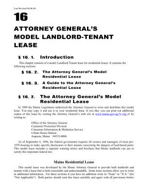Maine Lease Form