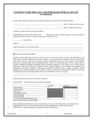 Purchase Agreement For House Form