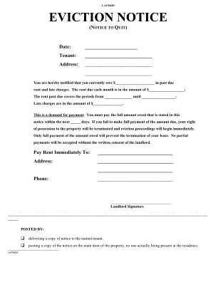 Pa Eviction Notice Form