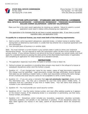 Pennsylvania Real Estate Settlement Form