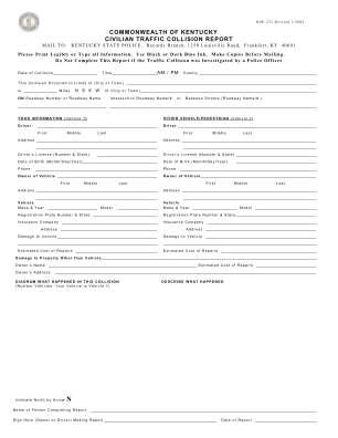 Civilian Traffic Report Form