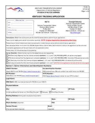 Kentucky Trucking Application