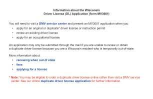 Wisconsindmv Gov Mv3001 2012 2019 Form