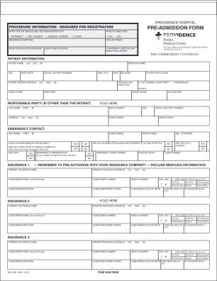 Blank Hospital Discharge Papers Form